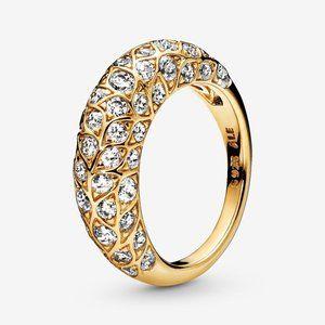 Pandora Sparkling Pattern Ring